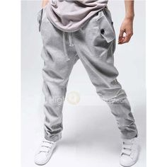 Fashion Korean Loose Casual Sports Harem Sweatpants For Men_13.59