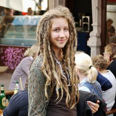 maramillo, via Flickr - gorgeous dreads! Makes me so happy about mine, which look almost exactly like this right now (except auburn and a few inches shorter). Love curly ends on dreads!