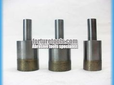 Straight shank diamond drill bit for glass agate ceramic processing