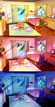 Anime Room Drawing : anime, drawing, Anime, Rooms, Ideas, Anime,, Scenery,, Simple