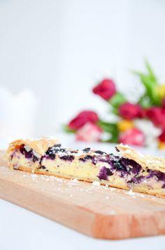 Quark - Heidelbeer - Strudel // schnell und einfach, superlecker! // Cheesecake - blueberry strudel for guests // Baking Barbarine #blueberry #strudel #cheesecake