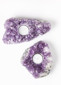 Amethyst Cluster Candle Holder by www.SoulMakes.com