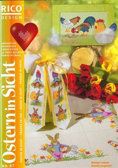Cross Stitching, Cross Stitch Embroidery, Cross Stitch Patterns, Cross Stitch Magazines, Cross Stitch Books, Rico Design, Easter Cross, Le Point, Needlework