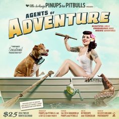 """""""*Pre-Order* 2014 Pinups for Pitbulls Calendar - Pinups for Pitbulls """"  OMG. My two loves in one calendar! I need this!!!!"""
