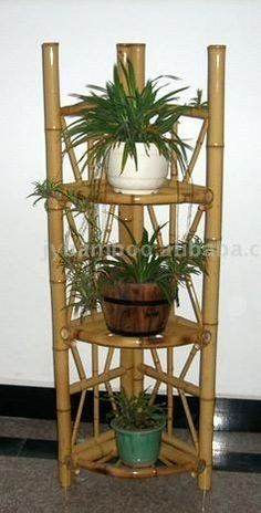 for the fashion of bamboo decoration is now developing with full strength. * More details can be found by clicking on the image. Dump Furniture, Bamboo Furniture, Furniture Movers, Furniture Design, Bamboo Planter, Bamboo Construction, Bamboo Architecture, Wood Plant Stand, Bamboo House