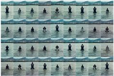 Printing on Water (Performance in the Lhasa River, Tibet, 1996), Song Dong. Photos: Eugenia Burnett Tinsley
