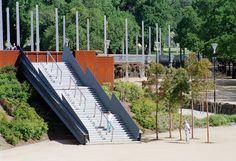 Birrarung Marr, Melbourne, Victoria Melbourne Cbd, Melbourne Victoria, Parking Design, Park City, Urban Design, Landscape Architecture, Three Dimensional, Sun Lounger, Canopy