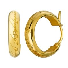 Lord of the Rings The One Ring Earrings - LOTR