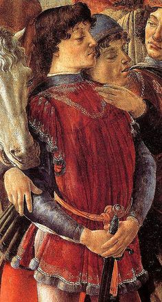 Act  I scene ii 63, Romeo: Stay, fellow, I can read. (he reads the letter)    [Sandro Botticelli, Adorazione dei Magi, Detail]