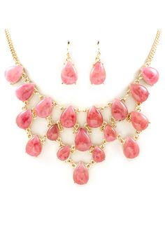 Strawberry Teardrop Necklace <3