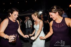 Guest dance floor photos at night.   Nicole and Charlie's fall inspired wedding at Laurel Creek Manor in Sumner, Washington photographed by local Seattle Wedding Photographer.
