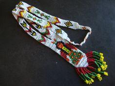 Vintage Native American Beaded Necklace via Etsy