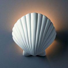 Shell Wall Sconce Light: http://beachblissliving.com/beach-lamps-and-pendant-lights/