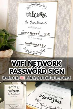 Free Wifi Password, Wifi Password Printable, Christian Homemaking, Best Blogs, Money Saving Tips, Letter Board, Free Printables, Diy Projects, Entertaining