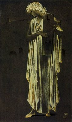 Sir Edward Coley Burne-Jones, Bt, 'A Woman Playing a Cithara' 1896