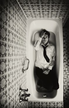 {Martin Waldbauer} i have no idea who he is, but he looks attractive and i just like this photo. and the bath/shower.