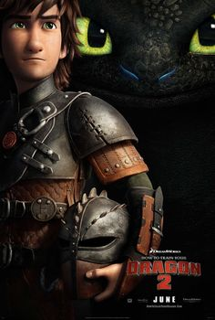 DreamWorks Animation has released a new poster for their great looking animated film How to Train Your Dragon 2 . It features an older-looking Hiccup, voiced by Jay Baruchel , and his dragon, Toothless. I loved the first movie, and this looks like it Dragon 2, Dreamworks Animation, Disney And Dreamworks, Dreamworks Skg, Animation Films, New Movies, Good Movies, Amazing Movies, Movies 2014