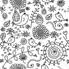 Birds Doodles · GL Stock Images