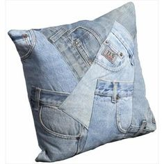 Image of Great Quality of Denim Throw Pillows
