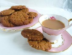 One dozen scrumptious peanut butter cookies -- just right to fill the mid-morning or mid-afternoon gap with a cup of tea! Made with crunchy peanut butter - if you prefer smooth peanut butter, please let me know at checkout Each cookie is approx 3 inche. Gluten Free Peanut Butter Cookies, Peanut Cookies, Cake Cookies, Food Now, Stamp Printing, Afternoon Tea, Baked Goods, Tea Cups, Food And Drink