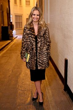 What They're Wearing: Sophie Stanbury's Birthday Bravo Tv, Ladies Of London, London Photos, Herve Leger, Looking For Women, Fur Coat, Style Inspiration, Lady, Birthday