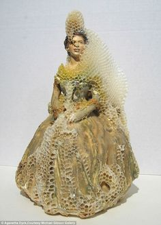 Genius! Aganetha Dyck creates artwork using bees and beehives...