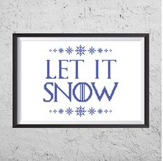 Let It Snow   Game Of Thrones Inspired Cross Stitch PDF