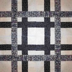 Neutral Quilt Block Pattern