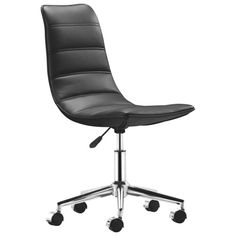 stylish office furniture: delectable fabulous office chair design and style white ranger armless white stylish office chair office chair legs in chrome black plastic wheel line Black Office Chair, Office Chairs, Home Office Furniture, Desk Chair, Chair Design, Home Kitchens, Cool Things To Buy, Comfy, Ranger