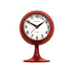 Retro Modern Alarm Clock in Red | dotandbo.com