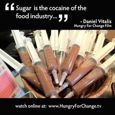 White, refined sugar is the cocaine of the food industry... ~Daniel Vitalis on Hungry for Change