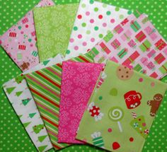 Christmas Candy fabric from Riley Blake....yummy.