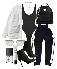 """Untitled #20950"" by florencia95 ❤ liked on Polyvore featuring Chanel, Norma Kamali, NARS Cosmetics, Christian Dior, Versace, Baldwin and Linda Farrow"