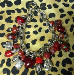 The reds have it!  A charm bracelet!