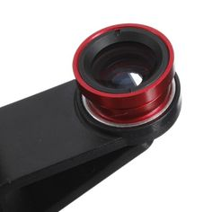 3 In 1 Fisheye Lens Wide Angle Macro Lens For iPhone Cellphone Color Red ** More info could be found at the image url.