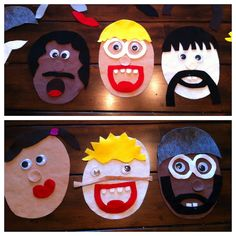 Felt Faces! Great for promoting language