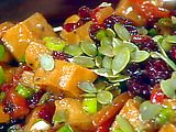 Roasted Sweet Potato Salad with Warm Chutney Dressing Recipe