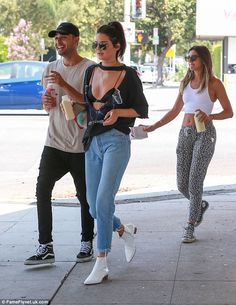 Juice with friends: The reality star was joined by some pals on the healthy…