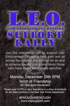 Bina's Buzz: Law Enforcement Support Rally 12/29/2014