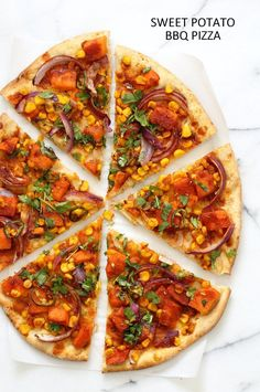 BBQ Sweet Potato Piz