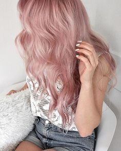 Mauve waves for days! SEXT #UnicornHair via @maya.la.mode