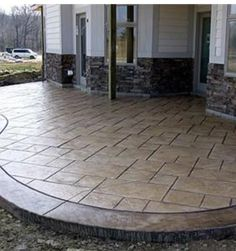Stamped concrete and coping