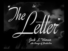 The letter movie title