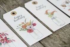 Birthdays seem to creep up on us -- these printable birthday gift tags are free and adorable! Simple print, cut and attach.