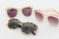 what-do-i-wear:     Karen Walker Number One & Perfect Day sunglasses, Le Specs Perspex sunglasses (image: tuula)
