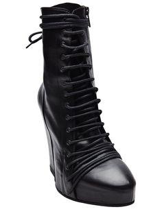 ANN DEMEULEMEESTER BLACK WEDGE BOOT  farfetch from Tabandeh  WASHINGTON D.C, United States