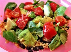 southwest salad with spicy balsamic vinaigrette