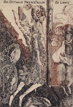Dusan Kallay : Ariadne (Exl) 1995, etching