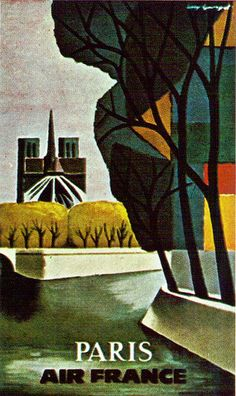Air France Travel Poster - From Illustration Today textbook 1963