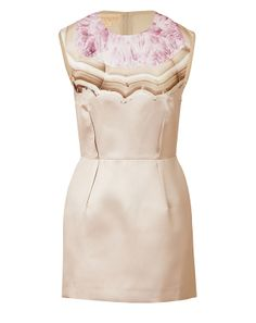 Pretty graphic print patterning lends a contemporary twist to this elegant sheath from Giambattista Valli #Stylebop
